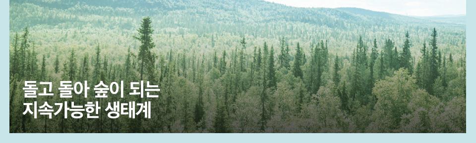 돌고돌아 숲이 되는 지속가능한 생태계